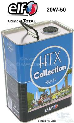 Peugeot Engine oil HTX 20W-50, from TOTAL/elf. Special oil for classic cars with petrol engine fro