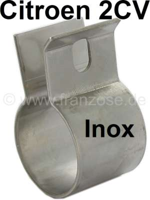 Citroen-2CV 2CV6, tail pipe exhaust clip from high-grade steel, for Citroen 2CV6 + 2CV4.  These clips