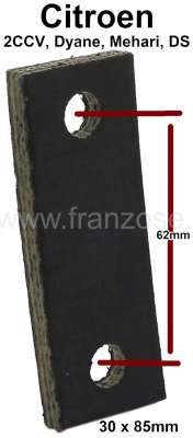 Citroen-2CV 2CV6, tail pipe securement rubber short. This rubber is for the centric securement. Hole s