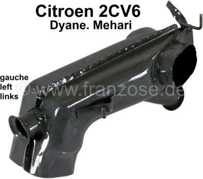 Citroen-2CV Heat exchanger on the left, for Citroen 2CV6. Reproduction.