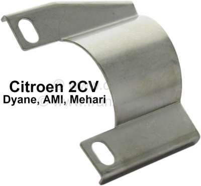 Citroen-2CV Screening plate at the exhaust, for the protection for the parking brake cable. Suitable f