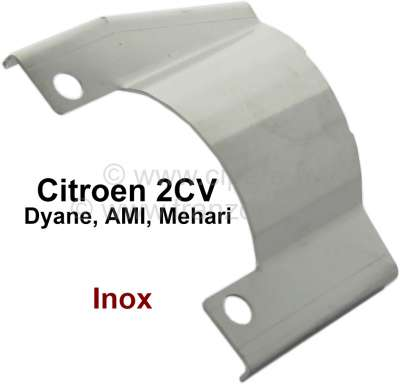 Citroen-2CV 2CV, screening plate at the exhaust (simple reproduction), for the protection the hand bra