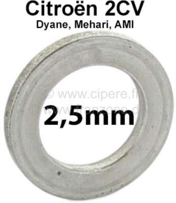 Citroen-2CV Kingpin spacer (distance disk). Heavy one: 2,5mm. Suitable for Citroen 2CV. Per piece! Or.