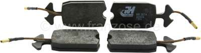 Citroen-2CV Brake pads in front, suitable for Citroen Dyane + ACDY. These brake pads have a connection