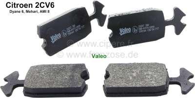 Citroen-2CV Brake pads in front, suitable for Citroen 2CV. Original manufacturer quality! Installed fr