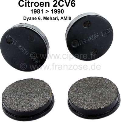 Citroen-2CV Parking brake pads, reproduction, suitable for Citroen 2CV + Citroen GS 1,0. At the 2CV in