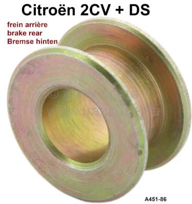 Citroen-2CV Brake shoes centering cam axle distance ring (Installed between centering cam and anchor p