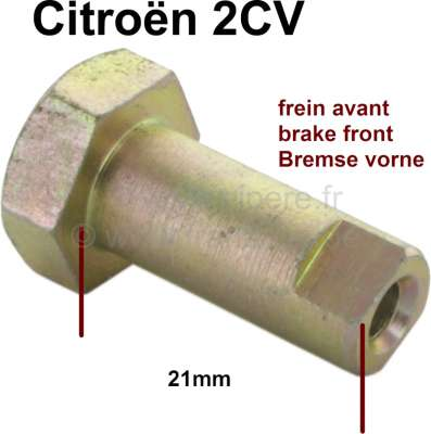 Citroen-2CV Brake shoes centering cam axle in front. Suitable for Citroen 2CV, with front drum brake.