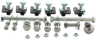 Citroen-2CV Bumper mounting kit (screws) in front. Suitable for Citroen 2CV6, starting from year of co
