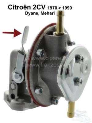 Citroen-2CV Gasoline pump for Citroen 2CV6, with hand lever! Label manufacturer. We let reproduce this