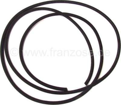 Citroen-2CV Fuel hose black, for Citroen 2CV. (between gasoline pump + carburetors. By meters. Diamete