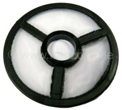 Citroen-2CV Fuel pre-filter. For fuel pumps with round cover. Almost all available fuel pumps of our c