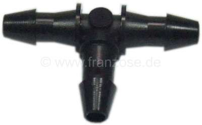 Citroen-2CV T-connector fuel pipe, 3mm, also suitable for the screen wash.