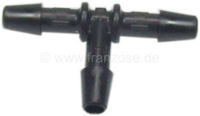 Citroen-2CV T-connector fuel pipe, 4mm, also suitable for screen wash.