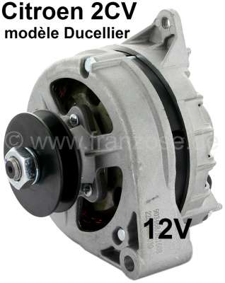 Citroen-2CV Generator 2CV6 + 2CV4, 12 V (small Ducellier version). New part! Suitable for Citroen 2CV,