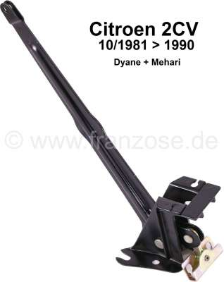 Citroen-2CV Hand brake lever on the chassis. Suitable for Citroen 2CV, with front disc brake. (After y