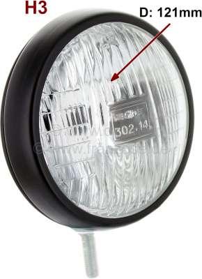 Citroen-2CV Additional headlight: Fog headlight round universal, very beautiful + small Version, case