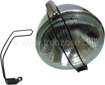 Citroen-2CV Auxiliary fixture for round headlight reflectors for Citroen 2CV. The small grating should