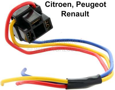 Citroen-2CV H4 connecting terminal with cable ends, universal.
