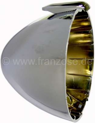 Citroen-2CV Headlamp casing  approximately, chromium-plates, from synthetic. Suitable for Citroen 2CV,