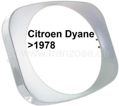 Citroen-2CV Headlight chrome ring, suitable for Citroen Dyane, to year of construction 1978! Citroen M