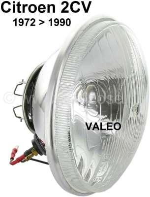 Citroen-2CV Headlight insert round, double-filament bulb. Suitable for Citroen 2CV6, HY. Version