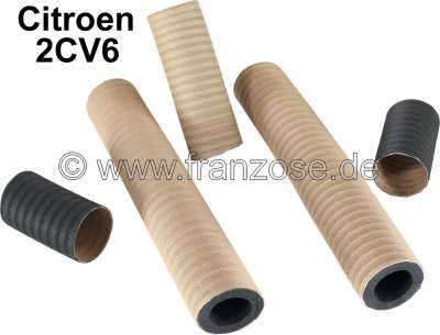 Citroen-2CV Heating hose set for Citroen 2CV6. Consisting of: 2x heating hose of the heat exchanger in