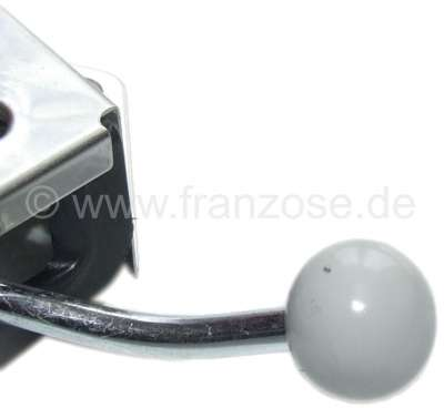 Citroen-2CV Knob approximately, screwable, grey, for the heater adjustment and air distribution. Repro