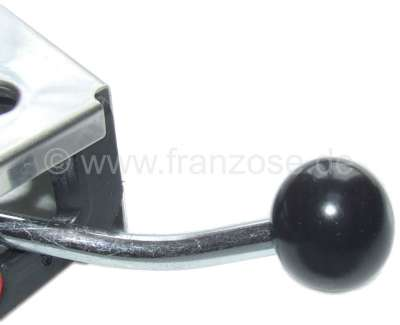 Citroen-2CV Knob round, colour black, screwable, for heating adjustment and air distribution. Reproduc