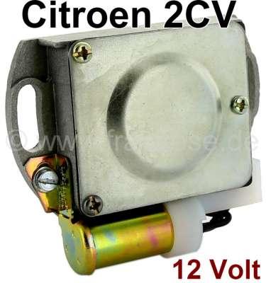 Citroen-2CV Contact housing Citroen 2CV, 12 V. Completely with mounted contact + condenser. Reproducti