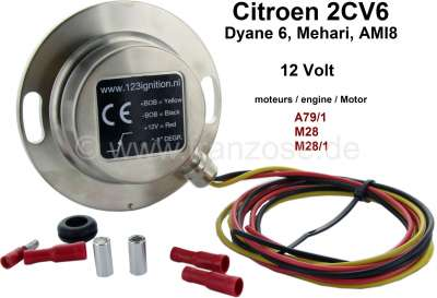 Citroen-2CV Electronic ignition system 12 Volt, for Citroen 2CV6. This ignition system is designed for