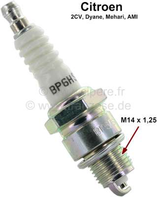 Citroen-2CV Spark plug NGK BP6HS. For all Citroen 2CV, Dyane, Ami 2 cylinder.