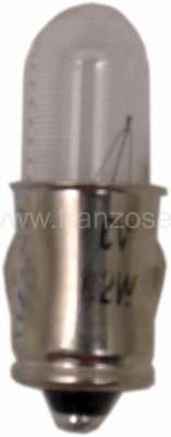 Citroen-2CV ball bulb 1,2 Watt 6 Volt  base Ba7s
