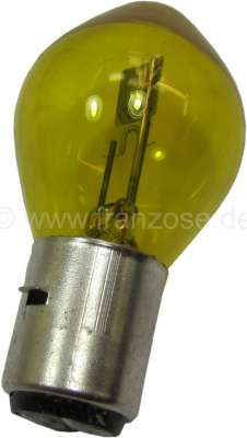 Citroen-2CV Bulb 12 V, 45/40 Watt, yellow. Base Ba20d.