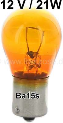 Citroen-2CV Bulb 21watt, Ba15s, 12 Volt yellow dyes for white turn signal glasses