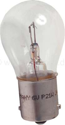 Citroen-2CV Bulb 6 V, 15 Watt. Base Ba 15s for original lateral indicators above, Citroen 2CV from the