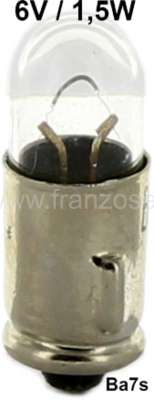 Citroen-2CV Bulb 6 V, 1.5 Watts. Base Ba7S. For the large control light by older 2CV + HY. Fits natura
