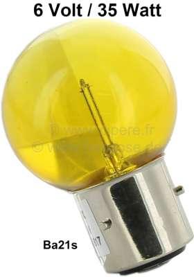 Citroen-2CV Bulb 6 V, 35 Watts, yellow, bases with 3 pins, Ba21s.