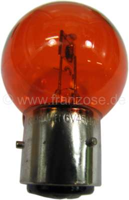 Citroen-2CV Bulb 6 V, 40/45 Watt. amber. (orange) bases with 3 pins, base Ba21d. 2CV early year of con