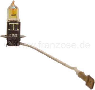 Citroen-2CV Bulb H3 yellow, 12 volt, 55 W. For example for Citroen DS.
