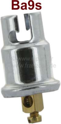Citroen-2CV Bulbs support (9,8mm diameter) for speedometer lights, base Ba9s. The lamp holder can be u