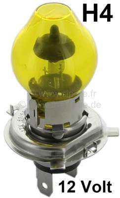 Citroen-2CV Light bulb 12 Volt, H4, 55/60 Watt, in yellow!!! Not permitted within the jurisdiction of