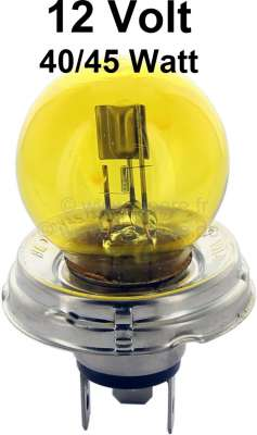 Citroen-2CV Two-filament bulb 40/45 W, 12 Volt, yellow ! Not allowed in German traffic