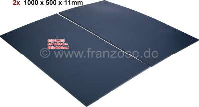 Citroen-2CV Noise damming mats self adhesive. Color grey. Measurements: 1000 X.500 x 11mm. Stuffing co