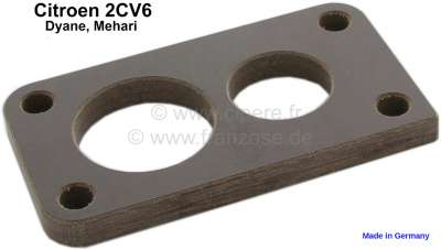 Citroen-2CV Seal under carburetor, distance plate between intake manifold and carburetor. Suitable for