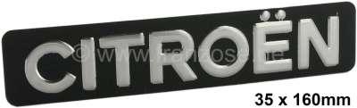Sonstige-Citroen 2CV, Luggage compartment hood. Emblem CITROEN made of metal. Reproduction like original, 3