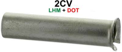 Citroen-2CV Master brake cylinder metal sleeve, for the connector in the engine front wall. Suitable f