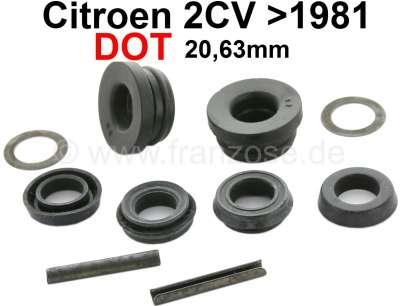 Citroen-2CV Master brake cylinder repair set. Brake system DOT. Dual circuit brake system. Suitable fo