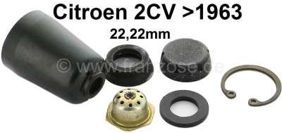 Citroen-2CV Master brake cylinder repair set, brake system DOT. Single circuit brake system. Suitable