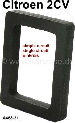 Citroen-2CV Master brake cylinder seal in the engine front wall. Suitable for Citroen 2CV with single